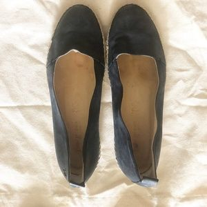 Paul Green Roxy Navy Espadrilles Leather Flats